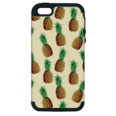 Pineapple Wallpaper Pattern Apple Iphone 5 Hardshell Case (pc+silicone)