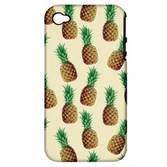 Pineapple Wallpaper Pattern Apple Iphone 4/4s Hardshell Case (pc+silicone)