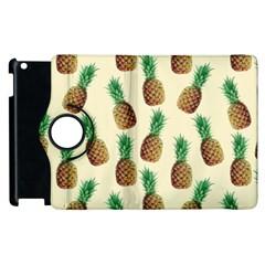 Pineapple Wallpaper Pattern Apple Ipad 2 Flip 360 Case