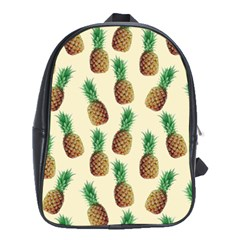 Pineapple Wallpaper Pattern School Bags (xl)