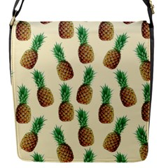 Pineapple Wallpaper Pattern Flap Messenger Bag (s)