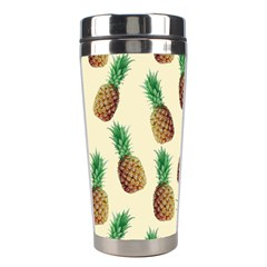 Pineapple Wallpaper Pattern Stainless Steel Travel Tumblers