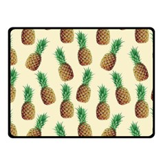 Pineapple Wallpaper Pattern Double Sided Fleece Blanket (small)