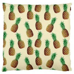 Pineapple Wallpaper Pattern Large Flano Cushion Case (two Sides)