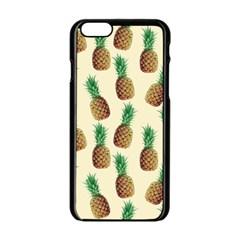 Pineapple Wallpaper Pattern Apple Iphone 6/6s Black Enamel Case