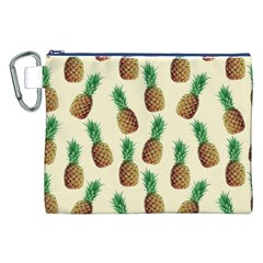 Pineapple Wallpaper Pattern Canvas Cosmetic Bag (XXL)
