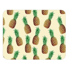 Pineapple Wallpaper Pattern Double Sided Flano Blanket (large)
