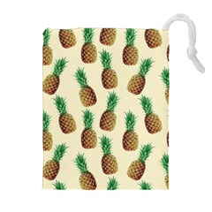 Pineapple Wallpaper Pattern Drawstring Pouches (Extra Large)