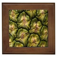 Pineapple Fruit Close Up Macro Framed Tiles