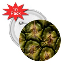 Pineapple Fruit Close Up Macro 2.25  Buttons (10 pack)