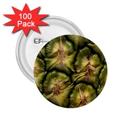 Pineapple Fruit Close Up Macro 2.25  Buttons (100 pack)