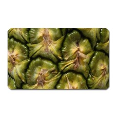 Pineapple Fruit Close Up Macro Magnet (Rectangular)
