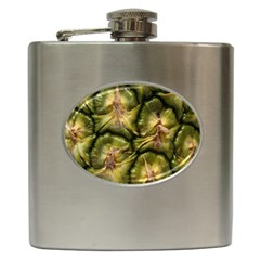 Pineapple Fruit Close Up Macro Hip Flask (6 Oz)