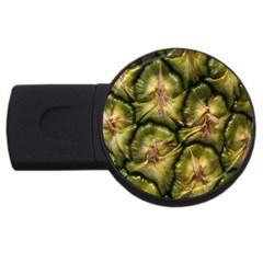 Pineapple Fruit Close Up Macro USB Flash Drive Round (1 GB)