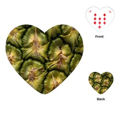 Pineapple Fruit Close Up Macro Playing Cards (Heart)