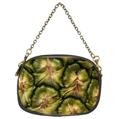 Pineapple Fruit Close Up Macro Chain Purses (Two Sides)