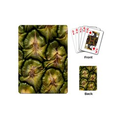 Pineapple Fruit Close Up Macro Playing Cards (mini)