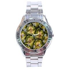 Pineapple Fruit Close Up Macro Stainless Steel Analogue Watch