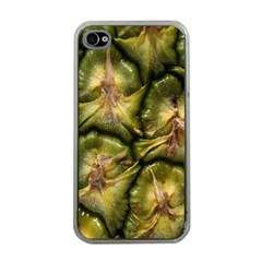 Pineapple Fruit Close Up Macro Apple iPhone 4 Case (Clear)