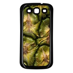 Pineapple Fruit Close Up Macro Samsung Galaxy S3 Back Case (black)