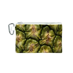 Pineapple Fruit Close Up Macro Canvas Cosmetic Bag (S)