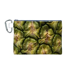 Pineapple Fruit Close Up Macro Canvas Cosmetic Bag (M)