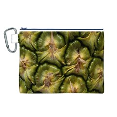 Pineapple Fruit Close Up Macro Canvas Cosmetic Bag (l)