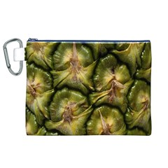 Pineapple Fruit Close Up Macro Canvas Cosmetic Bag (XL)