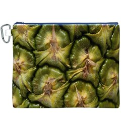Pineapple Fruit Close Up Macro Canvas Cosmetic Bag (XXXL)