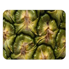Pineapple Fruit Close Up Macro Double Sided Flano Blanket (Large)
