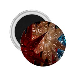 Poinsettia Red Blue White 2.25  Magnets