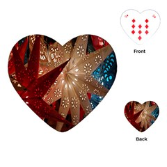Poinsettia Red Blue White Playing Cards (Heart)