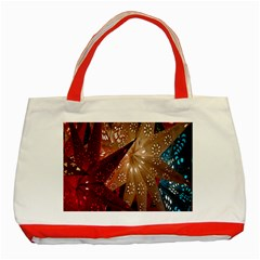 Poinsettia Red Blue White Classic Tote Bag (Red)