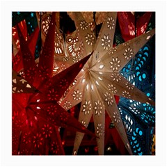 Poinsettia Red Blue White Medium Glasses Cloth (2-Side)