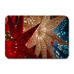 Poinsettia Red Blue White Plate Mats