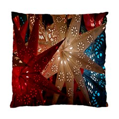 Poinsettia Red Blue White Standard Cushion Case (two Sides)