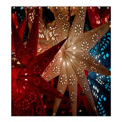 Poinsettia Red Blue White Shower Curtain 66  X 72  (large)