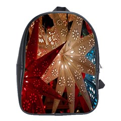 Poinsettia Red Blue White School Bags(Large)