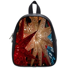 Poinsettia Red Blue White School Bags (Small)