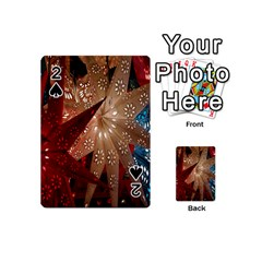 Poinsettia Red Blue White Playing Cards 54 (Mini)
