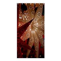 Poinsettia Red Blue White Shower Curtain 36  X 72  (stall)