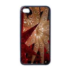 Poinsettia Red Blue White Apple Iphone 4 Case (black)