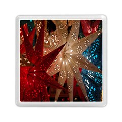Poinsettia Red Blue White Memory Card Reader (Square)