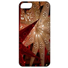 Poinsettia Red Blue White Apple iPhone 5 Classic Hardshell Case