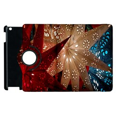 Poinsettia Red Blue White Apple Ipad 2 Flip 360 Case