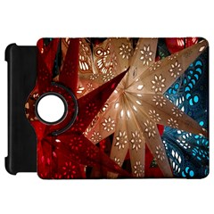Poinsettia Red Blue White Kindle Fire Hd 7