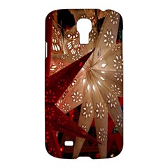 Poinsettia Red Blue White Samsung Galaxy S4 I9500/i9505 Hardshell Case