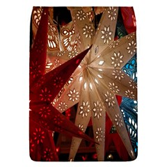 Poinsettia Red Blue White Flap Covers (S)