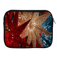 Poinsettia Red Blue White Apple Ipad 2/3/4 Zipper Cases