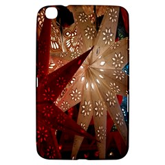 Poinsettia Red Blue White Samsung Galaxy Tab 3 (8 ) T3100 Hardshell Case